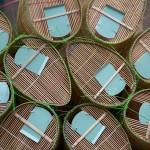 Bamboo Fishing Traps, Mekong Delta, Vinh Long, Vietnam thumbnail